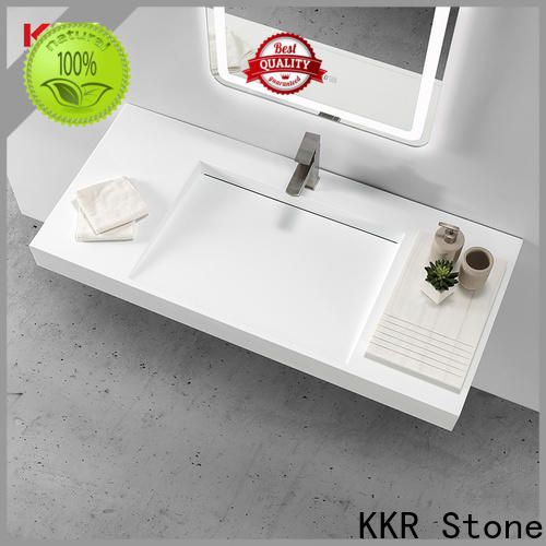 KKR Stone lassic style white corian countertops custom-design for kitchen tops