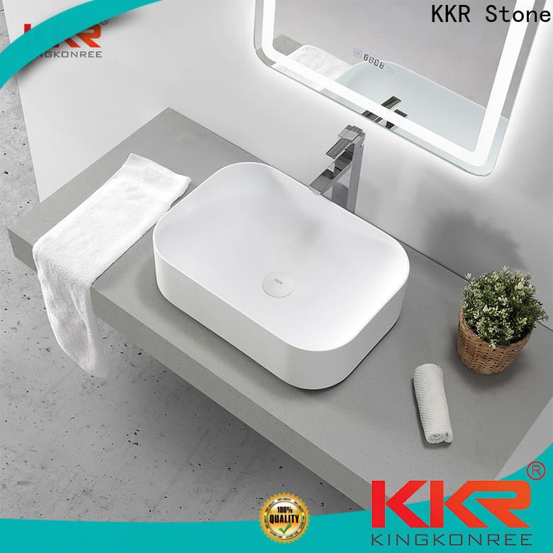 KKR Stone small bathroom sink supply for kitchen tops