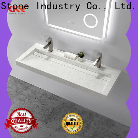 KKR Stone easy to clean undermount bathroom sink vendor for kitchen tops