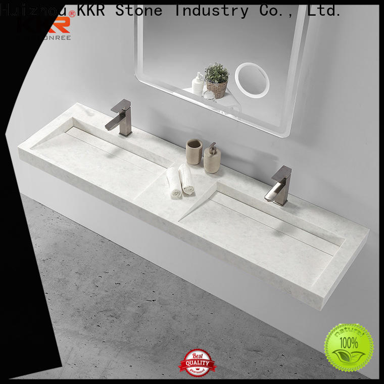 KKR Stone solid surface wash basin bulk production for school building
