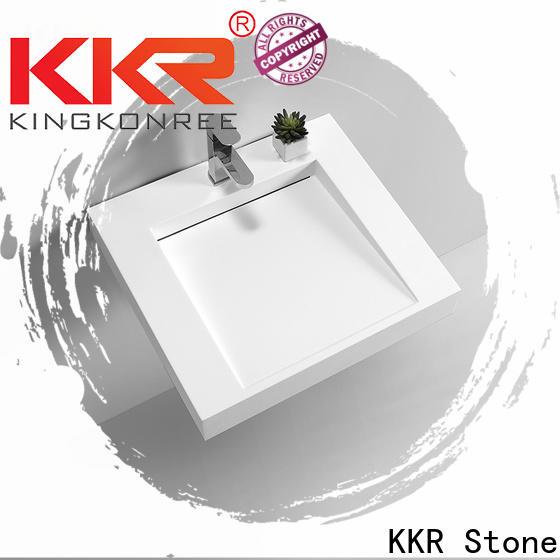 KKR Stone high tenacity undermount bathroom sink in special shapes for school building