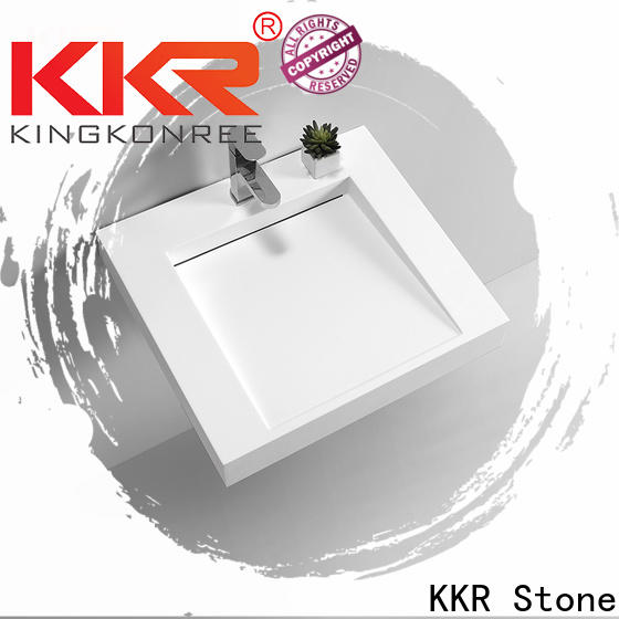 KKR Stone high tenacity undermount bathroom sink in special shapes for school building