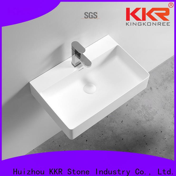 modern solid surface wash basin vendor for worktops