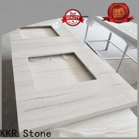 KKR Stone artificial bathroom tops popular for table tops