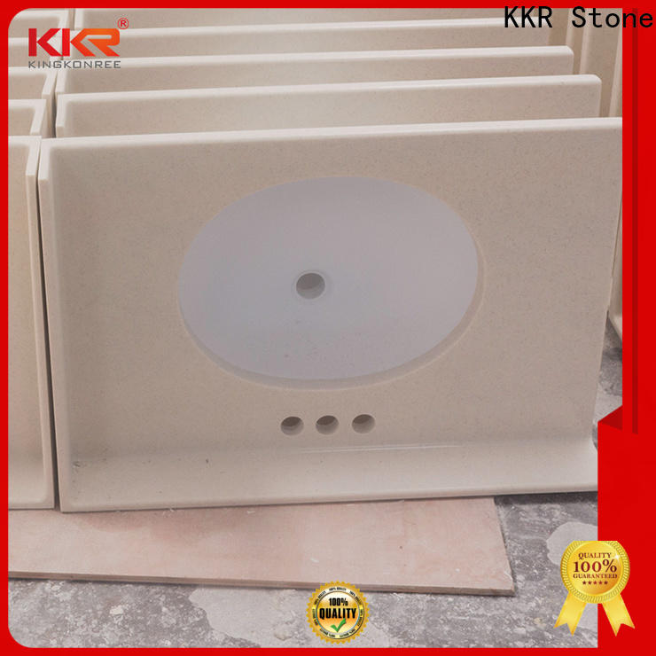 KKR Stone top solid surface countertop supply for table tops