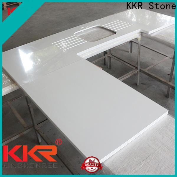 KKR Stone silky solid kitchen countertops producer furniture set