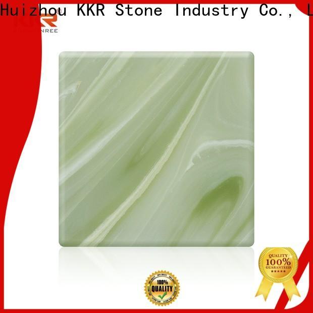 KKR Stone yellow translucent resin panel bulk production for garden table