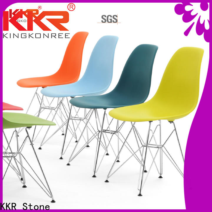 KKR Stone options clear plastic chair supplier for garden