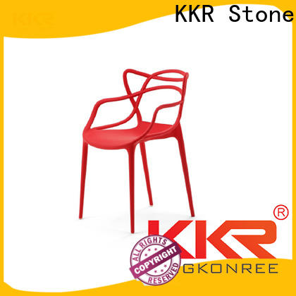 KKR Stone fine- quality modern plastic chairs supplier for outdoor