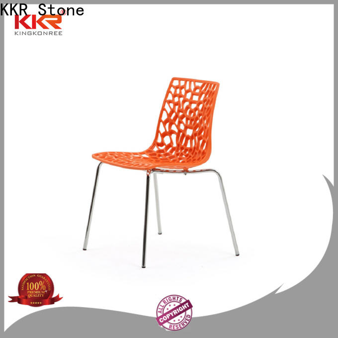 KKR Stone material plastic chairs manufacturers for garden