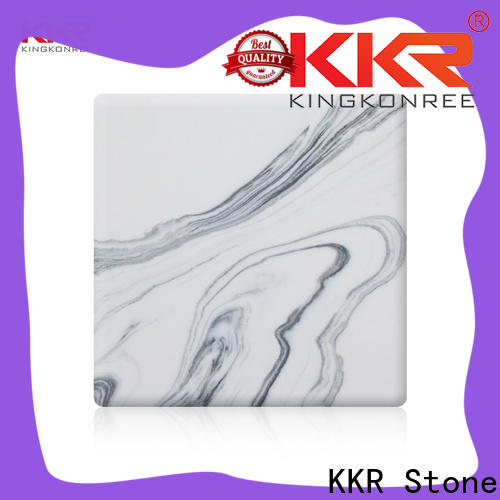 KKR Stone flame-retardant solid surface panels equipment for garden table