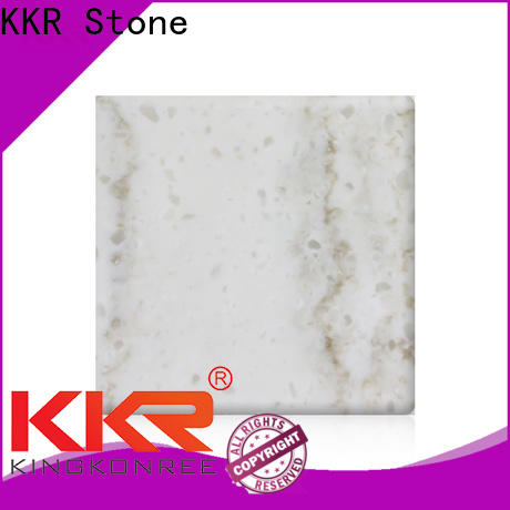 KKR Stone modified corian solid surface sheet manufacturer furniture set