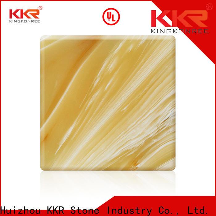 KKR Stone transparent translucent stone panel free design for building