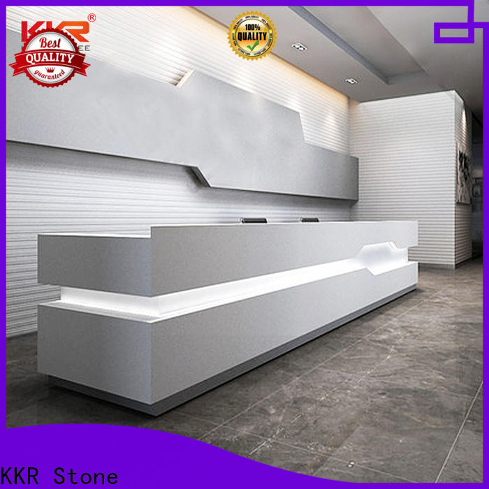 KKR Stone fashion design solid surface reception desk for kitchen tops