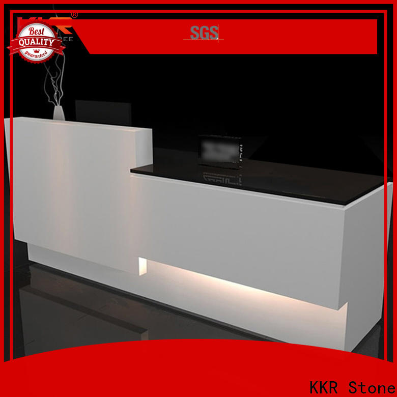 modern reception desk countertop quality in special shapes for table tops