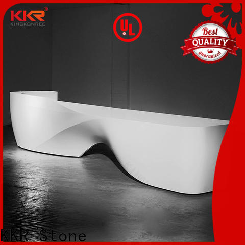 KKR Stone custom-made solid surface desk supplier for entertainment