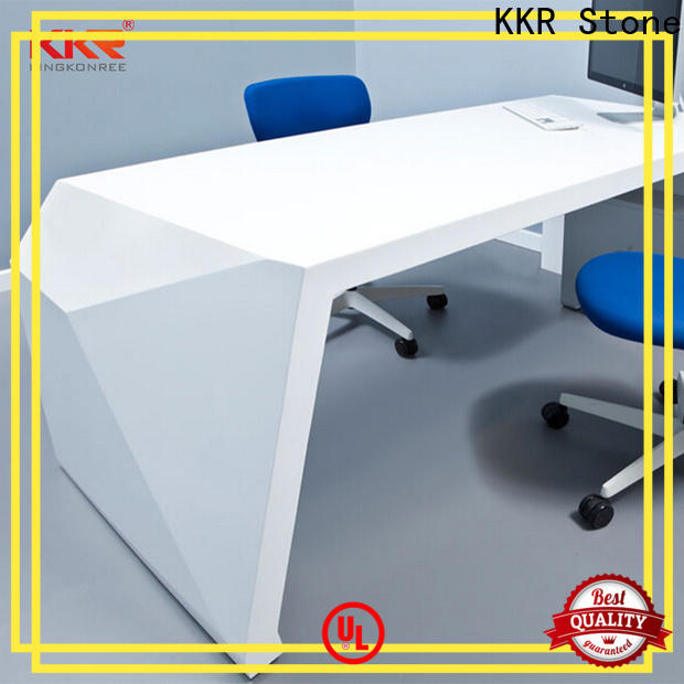 modified acrylic reception desk countertop marble certifications for early education