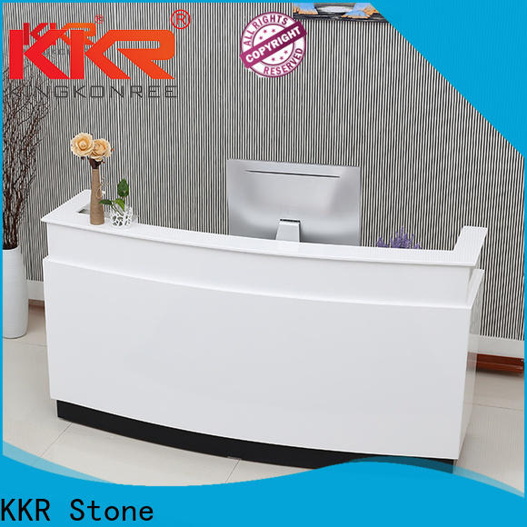 pure acrylic solid surface reception desk office widely-use for school building