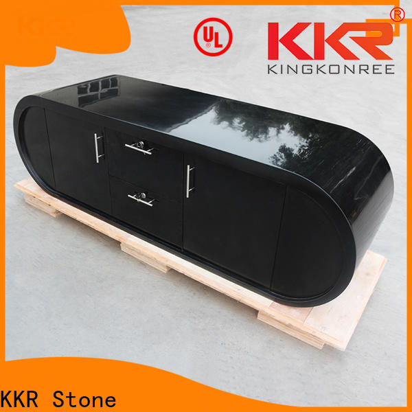 KKR Stone modified acrylic solid surface desk supplier for bar table