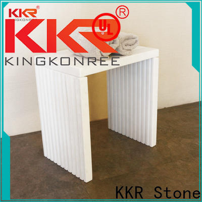 KKR Stone pattern clear acrylic shelves for living room