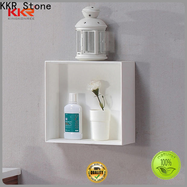 KKR Stone acrylic display shelves for hotel