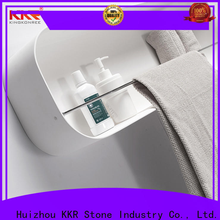 KKR Stone clear wall shelves in different shape for home