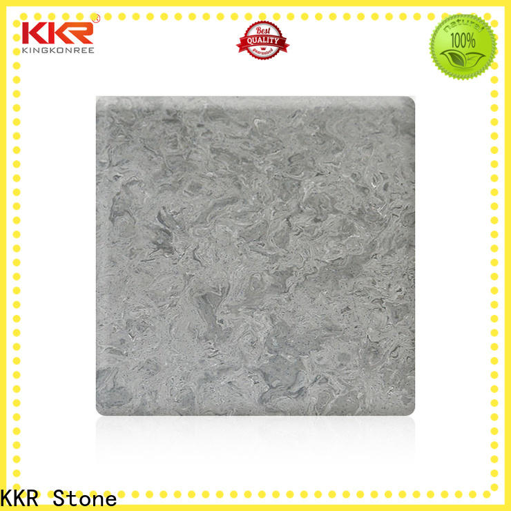 KKR Stone toxic free corian solid surface sheet factory for early education