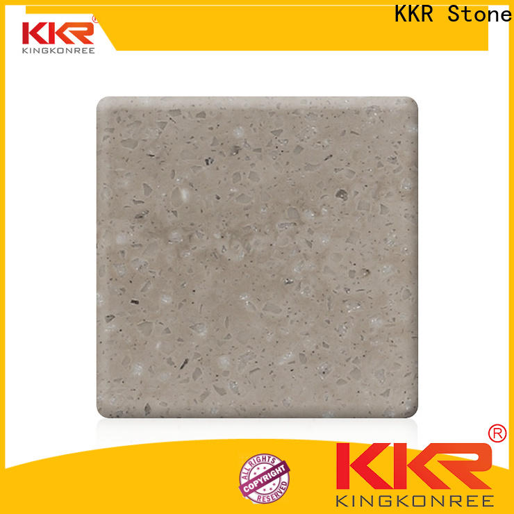 KKR Stone flame-retardant veining pattern solid surface in good performance furniture set