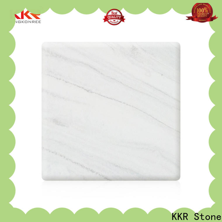 KKR Stone radiation free marble solid surface supply for school building