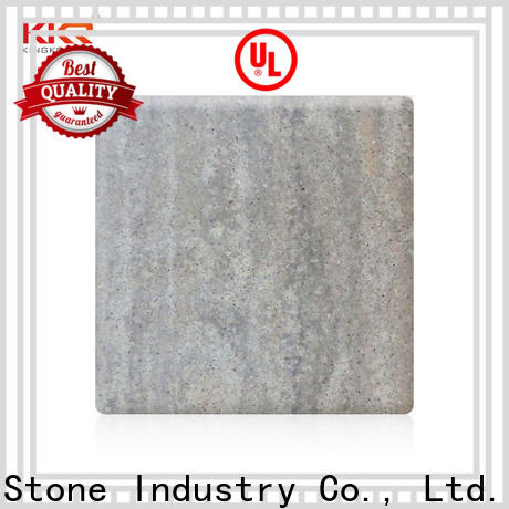 KKR Stone brown solid surface slab supply for early education
