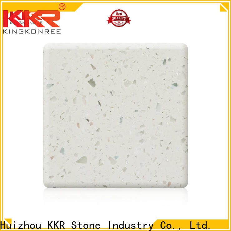 KKR Stone easily repairable modified acrylic solid surface superior chemical resistance for kitchen tops