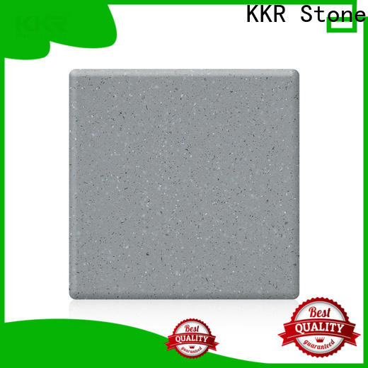 Warm touch modified acrylic solid surface chips superior chemical resistance furniture set