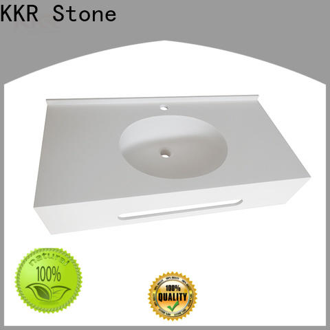 artificial solid surface bathroom countertops beige long-term-use for table tops