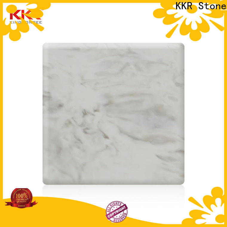 KKR Stone decorative veining pattern solid surface for garden table