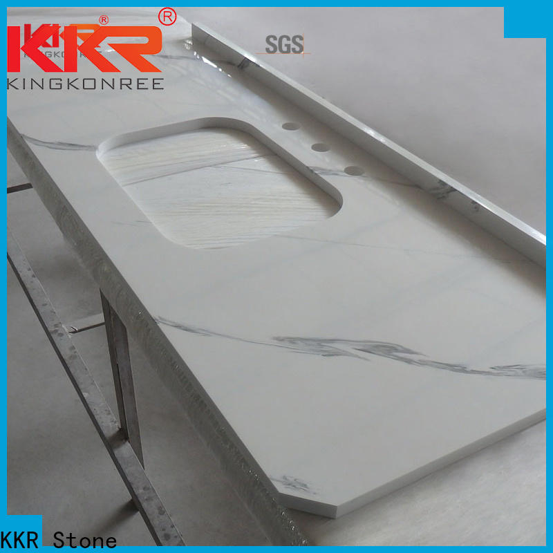 double Sink solid surface countertop marble long-term-use for worktops