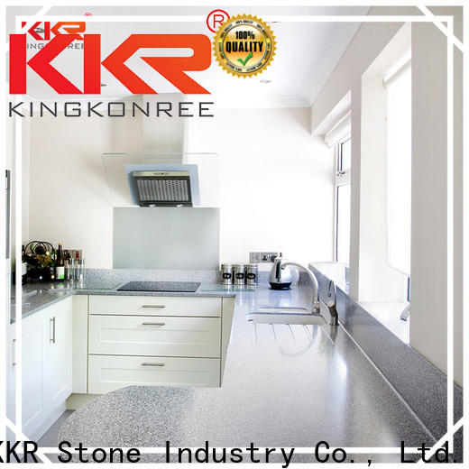 silky kitchen quartz countertops surface  supply for bar table