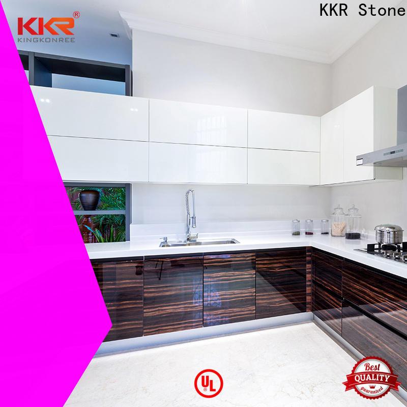 KKR Stone smooth kitchen quartz countertops for garden table
