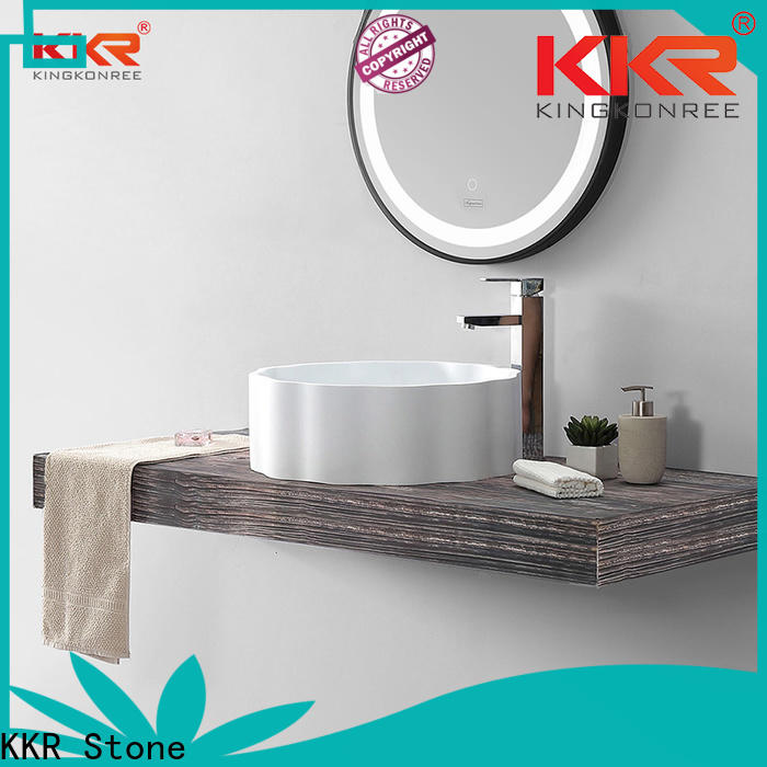 modern solid surface wash basin in good performance for school building