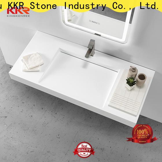 KKR Stone undermount bathroom sink bulk production for table tops