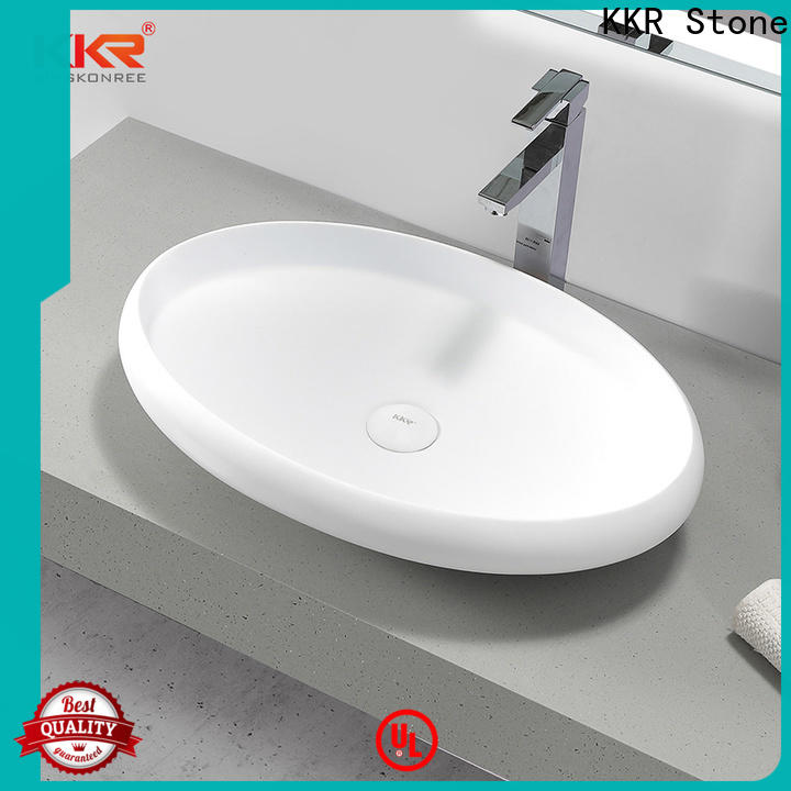 KKR Stone easy to clean white corian countertops in good performance for kitchen tops