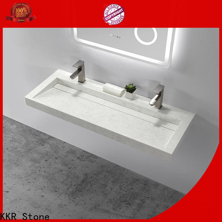 KKR Stone easily repairable small bathroom sink in good performance for worktops