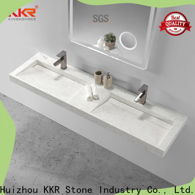 KKR Stone lassic style solid surface wash basin in good performance for table tops