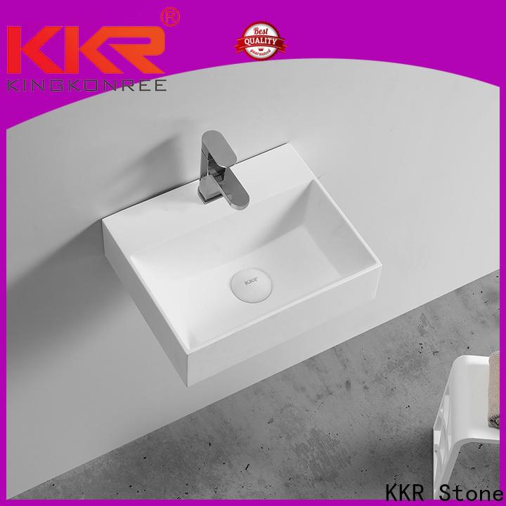 KKR Stone corian bathroom sinks bulk production for school building