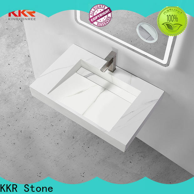 KKR Stone modern bathroom furniture in special shapes for worktops