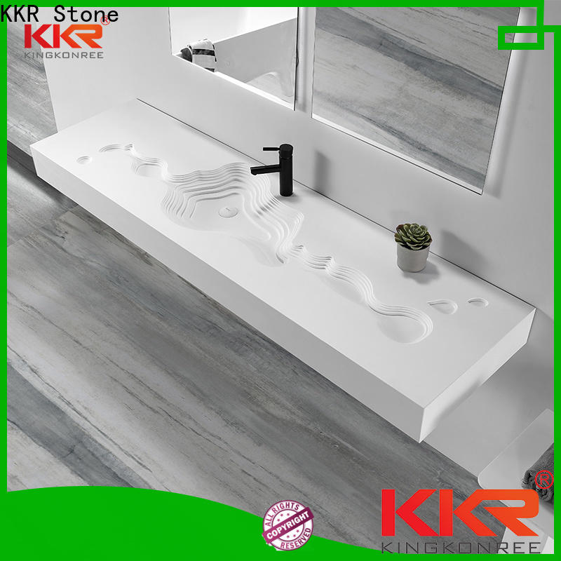 KKR Stone high tenacity small bathroom sink in special shapes for table tops