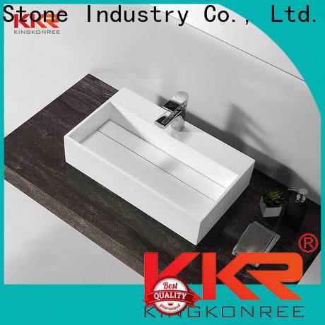 KKR Stone corian kitchen sinks bulk production for worktops