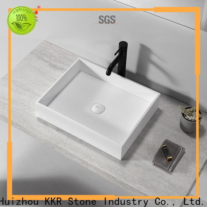 KKR Stone corian basin in good performance for school building