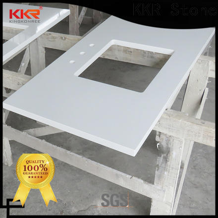KKR Stone artificial bathroom countertops China for worktops