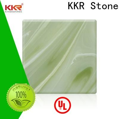 KKR Stone light weight translucent solid surface with good price furniture set