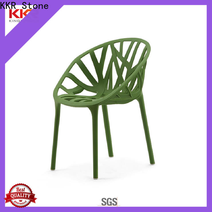 KKR Stone high-quality clear plastic chair long-term-use for kitchen